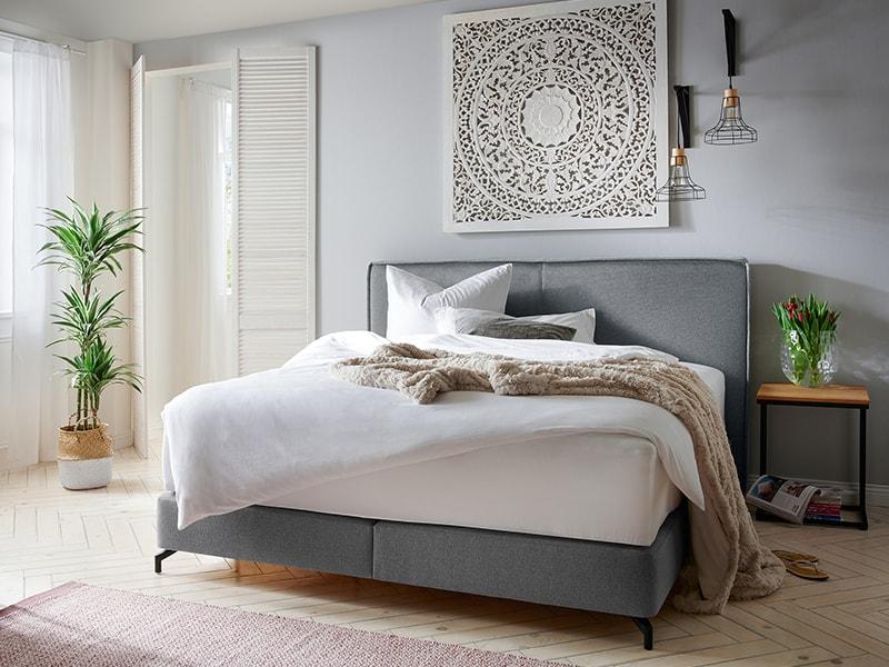 graues Bett von Natura Home